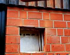 Дымоход через кирпичную или бетонную стену