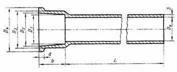 Размер трубы из чугуна