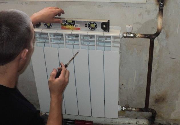 Монтаж алюминиевого радиатора отопления своими руками
