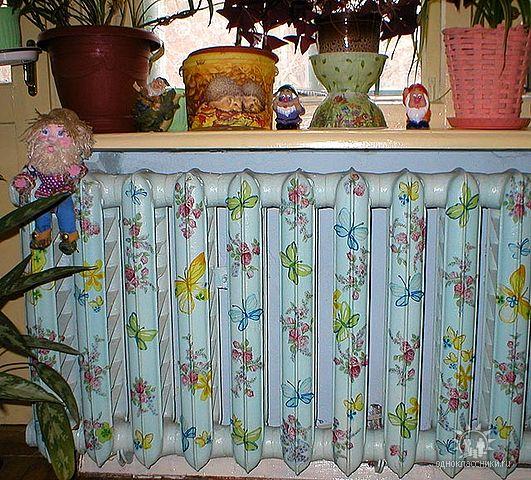 Красим радиаторы отопления