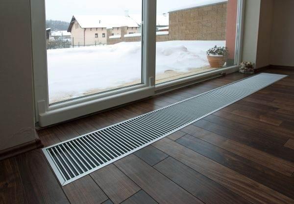 Радиатор, встроенный в пол