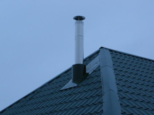 Как закрепить сэндвич трубу на крыше