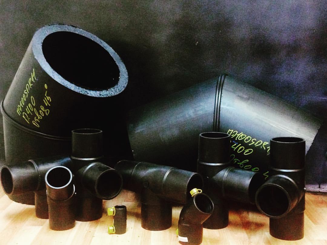 Канализационные ПЭ трубы и фитинги