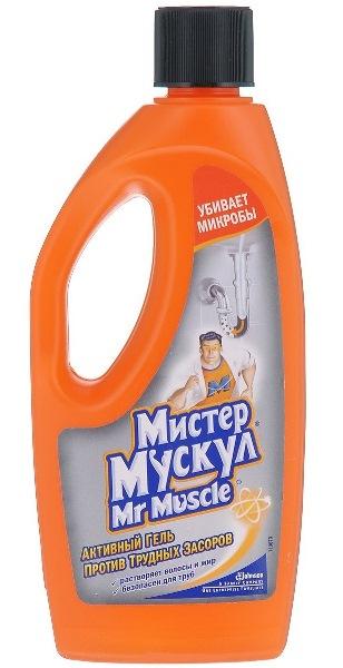 Жидкий мистер мускул: гель для труб