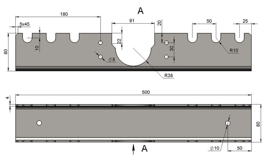 Трубогиб для профиля схема