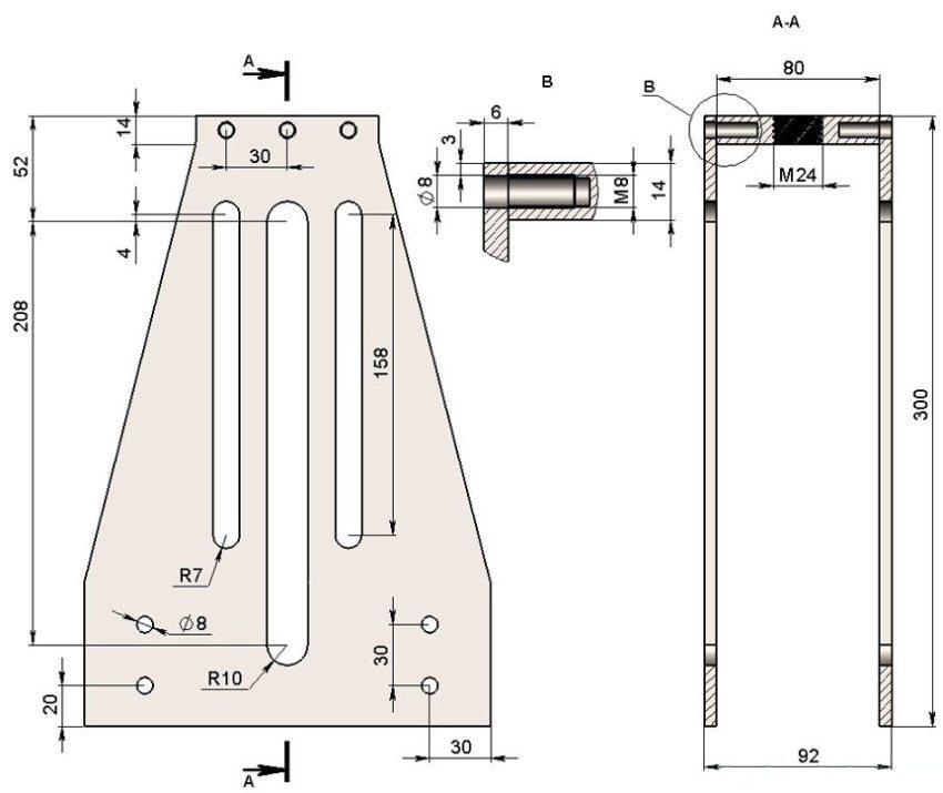 Схема трубогиба профильной трубы