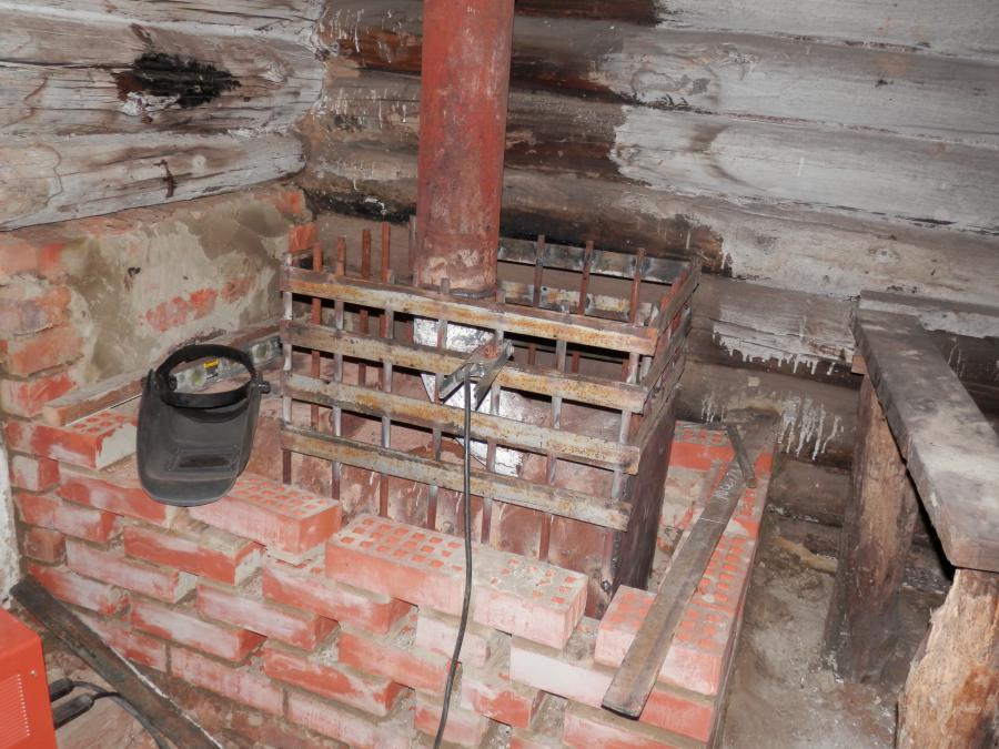Самодельная печь для бани из трубы диаметром 530 мм