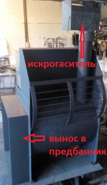 Печь из 530 мм трубы на 3 помещения