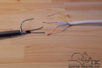 Подключение кабеля к сети