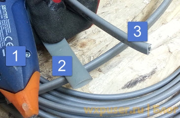 3 шага для соединения греющего кабеля