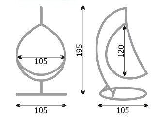 Схема качелей гамака