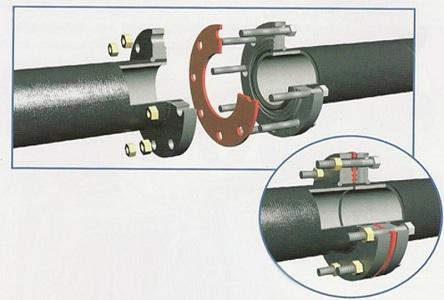 Фланцевое соединение труб отопления