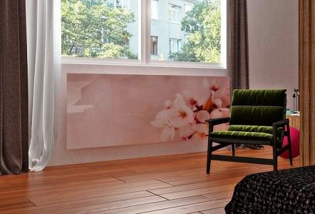 Стеклянный экран для декора радиатора отопления