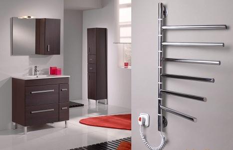 Виды электрических полотенцесушителей для ванной
