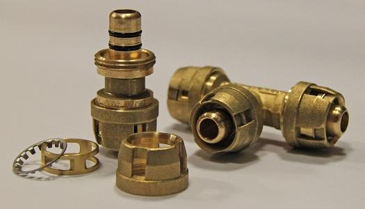 Разъемные соединения для медных труб отопления