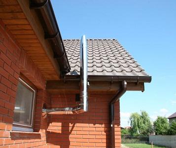 Дымоход для газовой колонки в частном доме